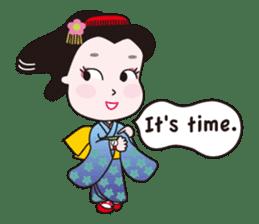 Geisha Mame-giku sticker #6982534