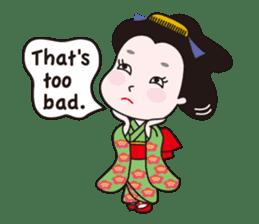 Geisha Mame-giku sticker #6982538