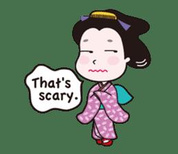 Geisha Mame-giku sticker #6982541