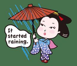 Geisha Mame-giku sticker #6982553