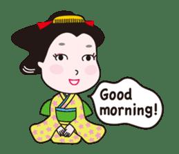 Geisha Mame-giku sticker #6982555