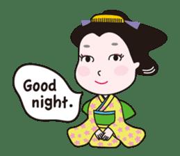 Geisha Mame-giku sticker #6982560