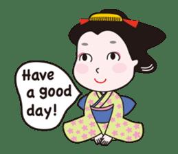 Geisha Mame-giku sticker #6982561