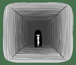 Bella, the adolescent ghost girl! sticker #6986328