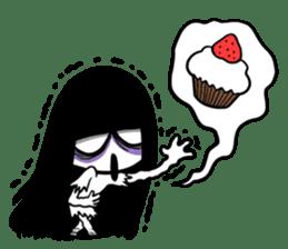 Bella, the adolescent ghost girl! sticker #6986354