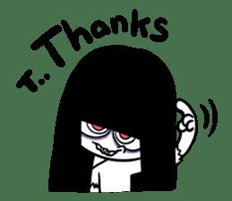 Bella, the adolescent ghost girl! sticker #6986359