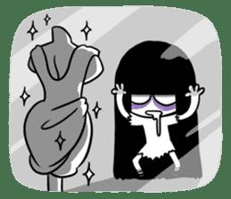 Bella, the adolescent ghost girl! sticker #6986362