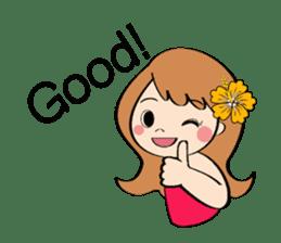 Everyday Greeting by Hawaiian Girl sticker #6986529