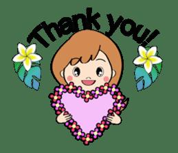 Everyday Greeting by Hawaiian Girl sticker #6986530