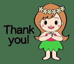 Everyday Greeting by Hawaiian Girl sticker #6986531