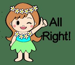Everyday Greeting by Hawaiian Girl sticker #6986532