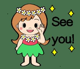 Everyday Greeting by Hawaiian Girl sticker #6986534