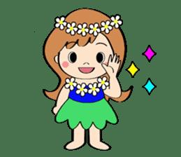 Everyday Greeting by Hawaiian Girl sticker #6986538