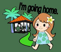 Everyday Greeting by Hawaiian Girl sticker #6986540