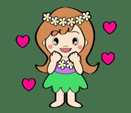Everyday Greeting by Hawaiian Girl sticker #6986544