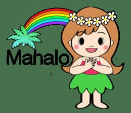Everyday Greeting by Hawaiian Girl sticker #6986555