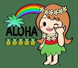 Everyday Greeting by Hawaiian Girl sticker #6986556