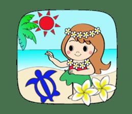 Everyday Greeting by Hawaiian Girl sticker #6986557