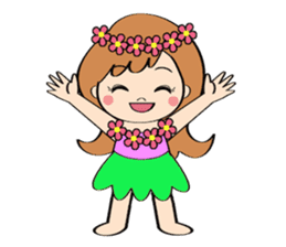 Everyday Greeting by Hawaiian Girl sticker #6986563