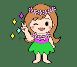 Everyday Greeting by Hawaiian Girl sticker #6986564