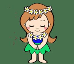Everyday Greeting by Hawaiian Girl sticker #6986566