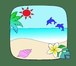 Everyday Greeting by Hawaiian Girl sticker #6986567