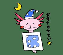 Healing axolotl sticker sticker #6988089