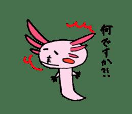 Healing axolotl sticker sticker #6988090