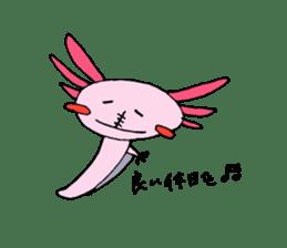 Healing axolotl sticker sticker #6988092
