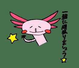 Healing axolotl sticker sticker #6988095