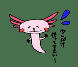 Healing axolotl sticker sticker #6988101
