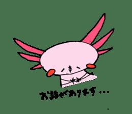 Healing axolotl sticker sticker #6988102