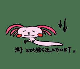 Healing axolotl sticker sticker #6988112