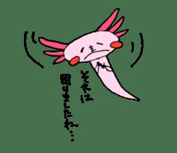 Healing axolotl sticker sticker #6988116