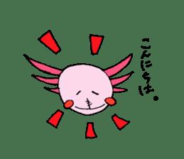 Healing axolotl sticker sticker #6988123