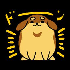 Dog such as the chestnut-jam bun