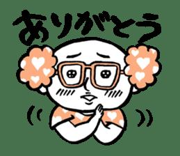 Powerful sticker of glasses sticker #6990212