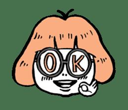 Powerful sticker of glasses sticker #6990214
