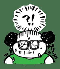 Powerful sticker of glasses sticker #6990217