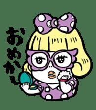 Powerful sticker of glasses sticker #6990234