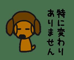 Talking dachshund 4 sticker #6993740