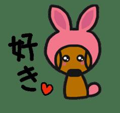 Talking dachshund 4 sticker #6993752