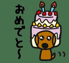 Talking dachshund 4 sticker #6993756