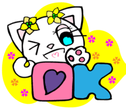 Lovely Cat 1 White cat and Black cat Eng sticker #6995667