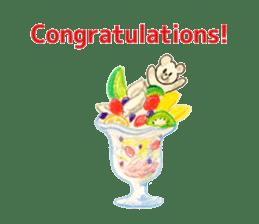 A cute(kawaii) dog and fruits (English) sticker #6997009