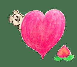 A cute(kawaii) dog and fruits (English) sticker #6997027