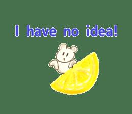 A cute(kawaii) dog and fruits (English) sticker #6997035