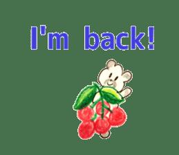 A cute(kawaii) dog and fruits (English) sticker #6997041