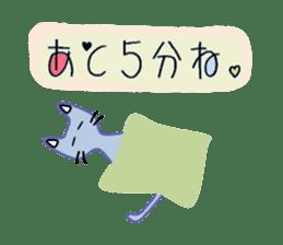 Lazily cats. sticker #6998786