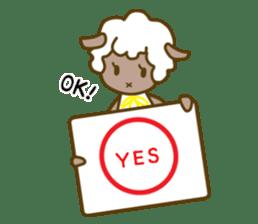 cat yasagure-chan sticker #6999241